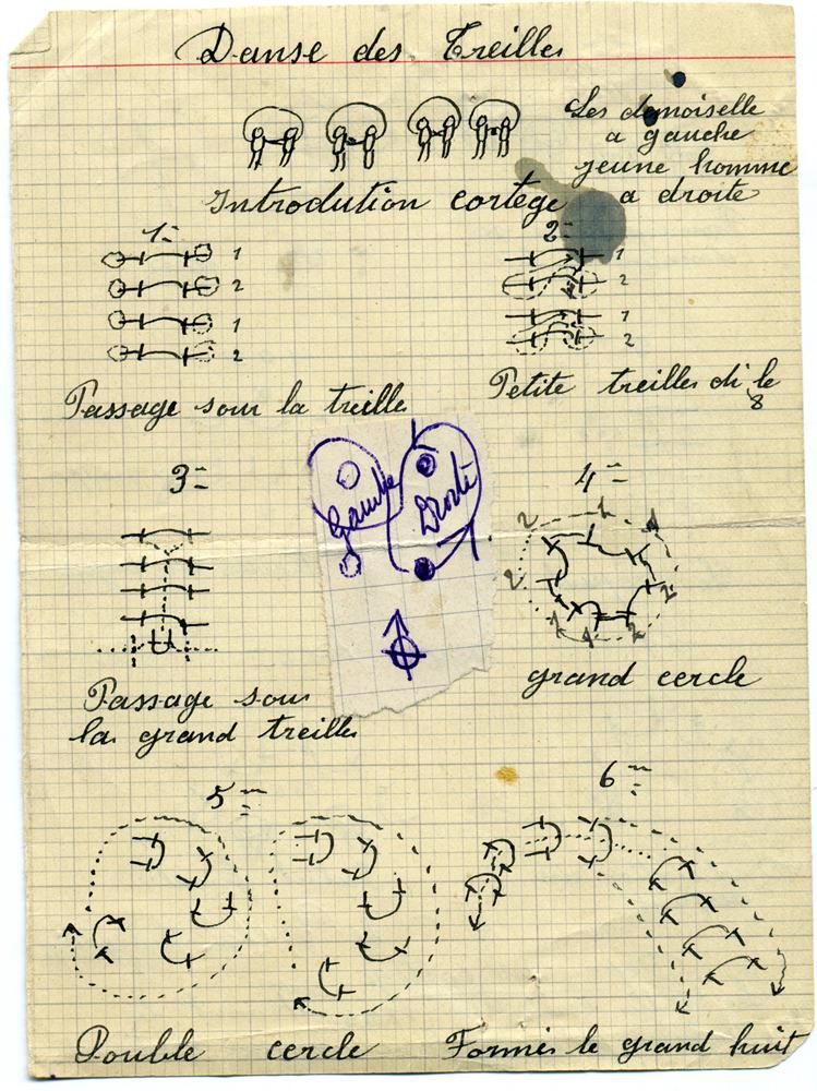 La danse des Treilles de Léon BOULET et Léonce Beaumadier notée entre 1930 et 1936