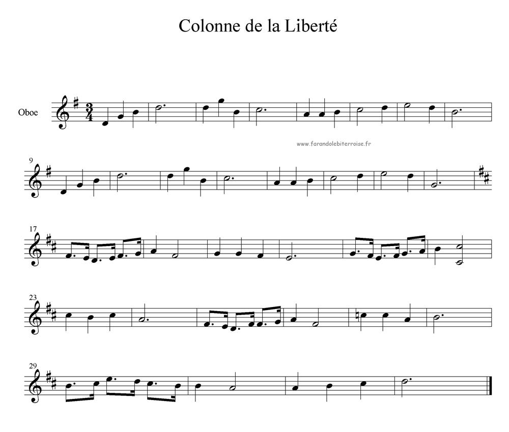 Partition – Danse de la Colonne de la Liberté