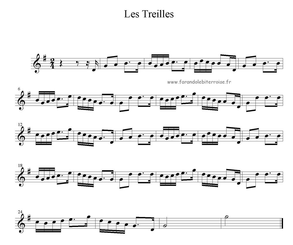 Partition – La danse de las Treilhas (Béziers)